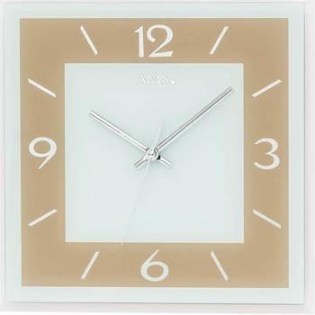 Vêtements de nuit Horloges Ams 9574, Quartz, Gold, Analogue, Modern Doré