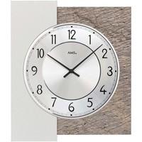 Vêtements de nuit Horloges Ams 9580, Quartz, Silver, Analogue, Modern Argenté