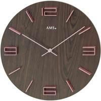 Vêtements de nuit Horloges Ams 9591, Quartz, Brown, Analogue, Modern Marron