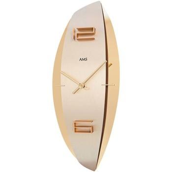 Vêtements de nuit Horloges Ams 9601, Quartz, Gold, Analogue, Modern Doré
