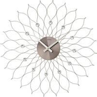 Maison & Déco Horloges Ams 9608, Quartz, Silver, Analogue, Modern Argenté