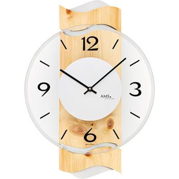 Vêtements de nuit Horloges Ams 9623, Quartz, Transparent, Analogue, Modern Autres