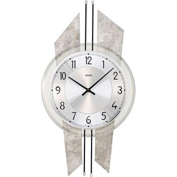 Vêtements de nuit Horloges Ams 9626, Quartz, Silver, Analogue, Modern Argenté