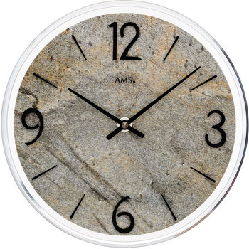 Maison & Déco Horloges Ams 9633, Quartz, Grey, Analogue, Modern Gris