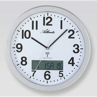 Maison & Déco Horloges Atlanta 4380/19, Quartz, White, Analogue, Modern Blanc