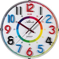 Maison & Déco Horloges Atlanta 4480/0, Quartz, White, Analogue, Modern Blanc
