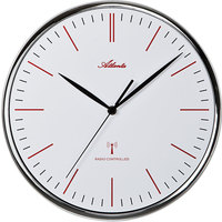 Maison & Déco Horloges Atlanta 4494, Quartz, White, Analogue, Modern Blanc