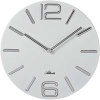 Maison & Déco Horloges Atlanta 4512/0, Quartz, White, Analogue, Modern Blanc
