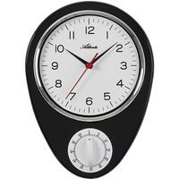Maison & Déco Horloges Atlanta 6114/7, Quartz, White, Analogue, Classic Blanc