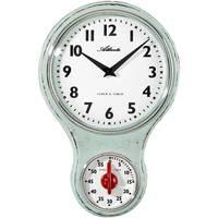 Maison & Déco Horloges Atlanta 6124/6, Quartz, White, Analogue, Classic Blanc
