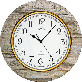 Maison & Déco Horloges Ams 5569, Quartz, White, Analogue, Modern Blanc