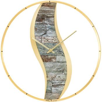 Maison & Déco Horloges Ams 9645, Quartz, Gold, Analogue, Modern Doré