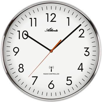 Maison & Déco Horloges Atlanta 4499/0, Quartz, White, Analogue, Modern Blanc