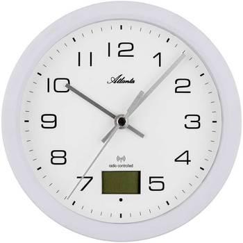 Maison & Déco Horloges Atlanta 4504/0, Quartz, White, Analogue, Modern Blanc
