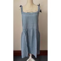 Vêtements Femme Robes courtes Tommy Hilfiger ROBE BRETELLES à NOUER - TOMMY HILFIGER - T.L - NEUVE Bleu