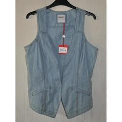Vêtements Femme Gilets / Cardigans Esprit GILET en JEAN - ESPRIT - T.L/XL Bleu