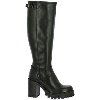 Chaussures Femme Bottes ville Spaziozero Bottes cuir Noir