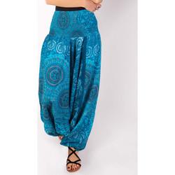 Vêtements Femme Pantalons fluides / Sarouels Coton Du Monde Jody Bleu