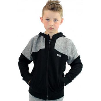 Vêtements Enfant Sweats BOSS Hugo  - Sweat à Capuche - Gris chiné Noir J25A91 Junior Noir