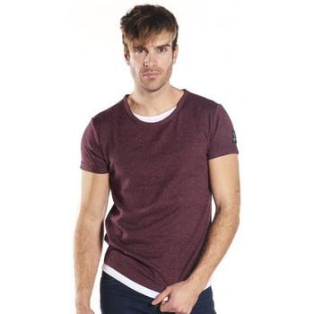 Vêtements Homme T-shirts manches courtes Deeluxe Tee shirt homme MOHAN bordeaux BORDEAUX