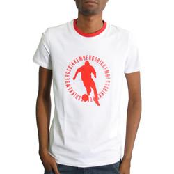 Vêtements Homme T-shirts manches courtes Bikkembergs Tshirt  blanc - CZ1260206 Blanc