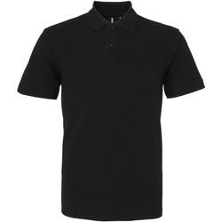 Vêtements Homme Polos manches courtes Asquith & Fox AQ082 Noir