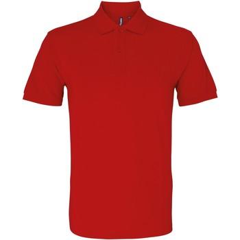 Vêtements Homme Polos manches courtes Asquith & Fox AQ082 Rouge