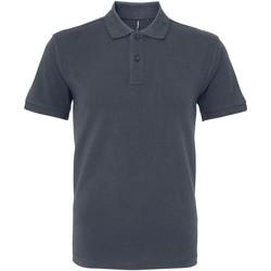 Vêtements Homme Polos manches courtes Asquith & Fox AQ082 Gris foncé