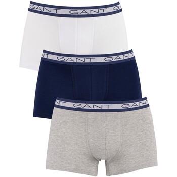 Sous-vêtements Homme Caleçons Gant Lot de 3 malles basiques multicolore