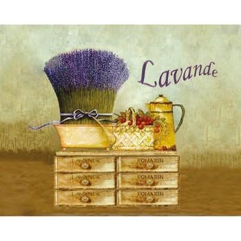 Maison & Déco Torchons Provence Torchon en coton décoré - Lavande