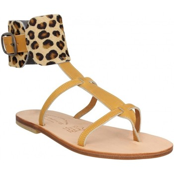 Chaussures Femme Sandales et Nu-pieds Spartiates Phoceennes Alicia cuir Femme Naturel Leopard Beige