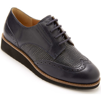 Chaussures Femme Derbies Pediconfort Derbies tout cuir marine