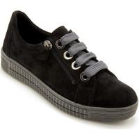 Chaussures Femme Baskets basses Pediconfort Derbies zip et lacets cuir velours noir