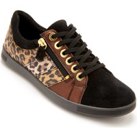Chaussures Femme Baskets basses Pediconfort Baskets zippées cuir semelle amovible noirimplopard