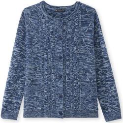 Vêtements Femme Gilets / Cardigans Kocoon Cardigan maille torsadée chinbleu