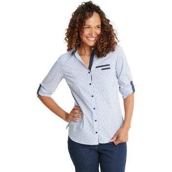 Vêtements Femme Chemises / Chemisiers Kocoon Chemisier coton à rayures raybleublanc