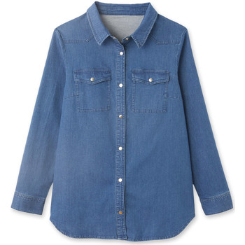 Vêtements Femme Chemises / Chemisiers Kocoon Chemise denim bleu