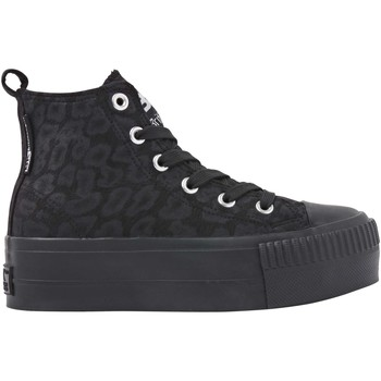 Chaussures Fille Baskets montantes British Knights KAYA MID FILLES BASKETS MONTANTE lopardnoir