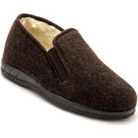 Chaussures Homme Chaussons Honcelac Sans-gêne fourrés laine marronuni