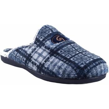 Chaussures Homme Chaussons Garzon Go home gentleman  6001.292 bleu Gris