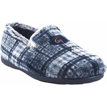 Chaussures Homme Chaussons Garzon Go home gentleman  6501.292 bleu Gris