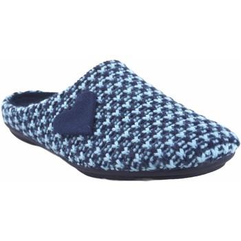 Chaussures Femme Chaussons Garzon Go home Mme  5501.345 bleu Bleu