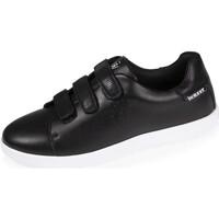 Chaussures Femme Baskets basses Isotoner Baskets scratch et paillettes Noir