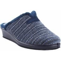 Chaussures Femme Chaussons Garzon Go home Mme  1725.527 bleu Bleu