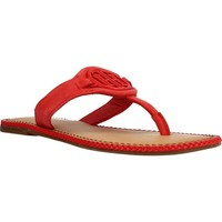 Chaussures Femme Sandales et Nu-pieds Tommy Hilfiger ESSENTIAL HARDWARE FLAT Rouge