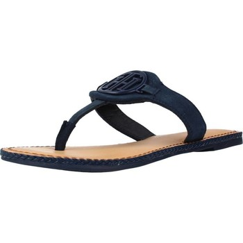 Chaussures Femme Tongs Tommy Hilfiger ESSENTIAL HARDWARE FLAT Bleu