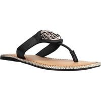 Chaussures Femme Sandales et Nu-pieds Tommy Hilfiger ESSENTIAL LEATHER FLAT S Noir