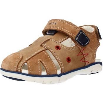 Chaussures Garçon Sandales et Nu-pieds Geox B SANDAL DELHI BOY B Brun