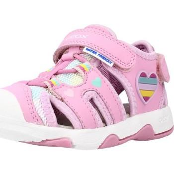 Chaussures Fille Sandales et Nu-pieds Geox B SANDAL MULTY GIRL Rose