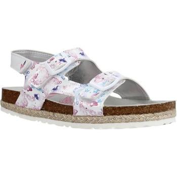 Chaussures Fille Sandales et Nu-pieds Asso AG11012 Blanc